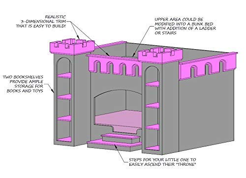 Amazon Com Princess Castle Bed Plans Handmade