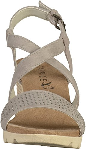28706 Caprice Sandals Light Suede Grey 60g67nq