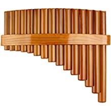 Chinese Traditional Musical Instrument 15 Pipes Pan Flute G Key Pan Pipes Woodwind Instrument (Left Hand)