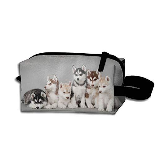 Siberian Husky Travel Cosmetic Bag Portable Makeup Pouch Pencil Makeup Handbag Holders