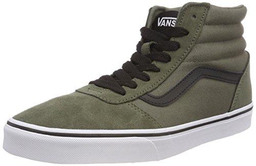 Collo Alto Ward Canvas U19 Dusty Olive Verde a Black Canvas Vans Uomo Sneaker Hi Suede Suede qYx0w