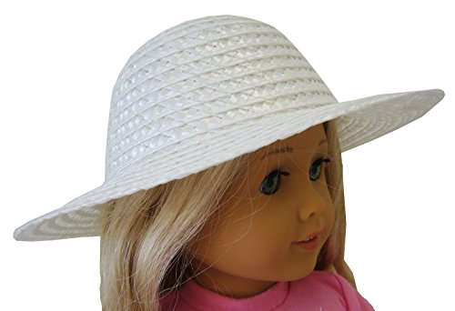 - White Straw Hat For American Girl by Doll Clothes Sew Beautiful