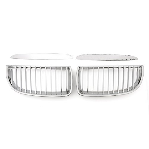 Areyourshop Chrome Front Kidney Grille Grill For BMW 3 Series E90 E91 325i 328i 2004-2007