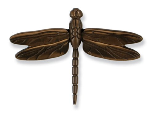 Dragonfly in Flight Door Knocker - Oiled Bronze (Premium Size) by Michael Healy Designs