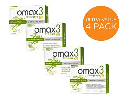Omax3® Omega 3 Fish Oil Supplement Ultra Pure Softgels