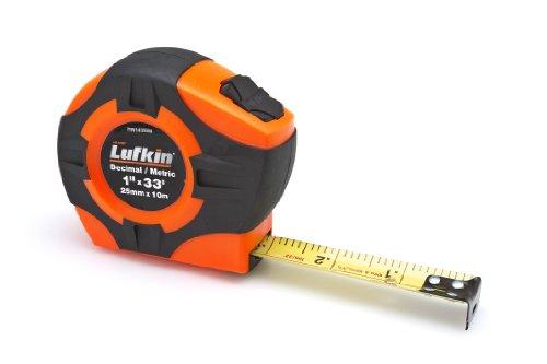 Lufkin PHV1433DM  Power Return Engineer's Tape, 1-Inch by 33-Feet, Hi-Viz Orange
