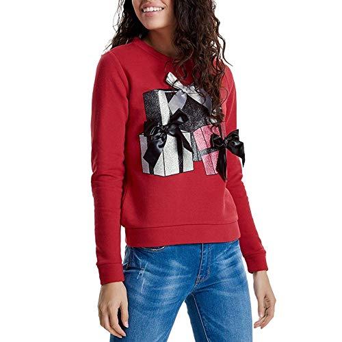 AIEason Women Print Sweatshirt Long Sleeve Ribbon Jumper Pullover Blouse from AIEason-Fashion Hoodies & Sweatshirts