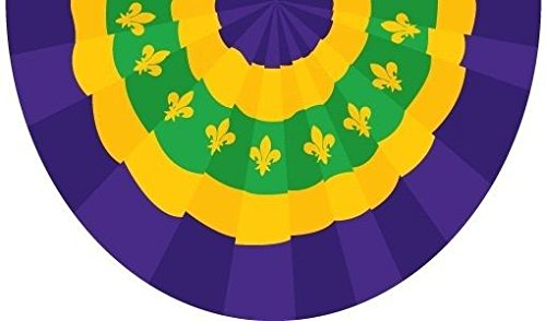 ALBATROS Lot 2 Pack 3 ft x 5 ft ft New Orleans Mardigras Mardi Gras Bunting 3 ft x 5 ft Flag for Home and Parades, Official Party, All Weather Indoors Outdoors