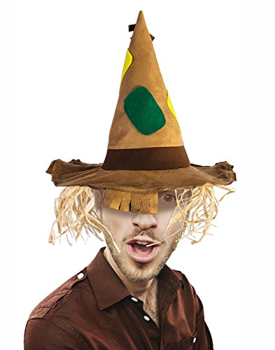 Wizard Of Oz Scarecrow Costume Accessories (Scarecrow patchwork hat with straw