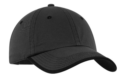 (Port Authority Men's Vintage Washed Contrast Stitch Cap OSFA Charcoal/Black)