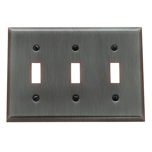 Baldwin 4770.112.CD Classic Square Beveled Edge Double Toggle Switch Plate, Venetian Bronze -