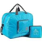 Faltbare Reisetasche 20-50L Superleichte Reisetasche für Gepäck Sport Fitness Wasserdichtes Nylon von WANDF (20L Blau02…