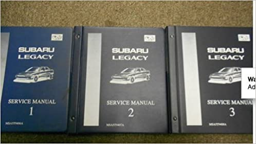 subaru legacy 1995 factory service repair manual