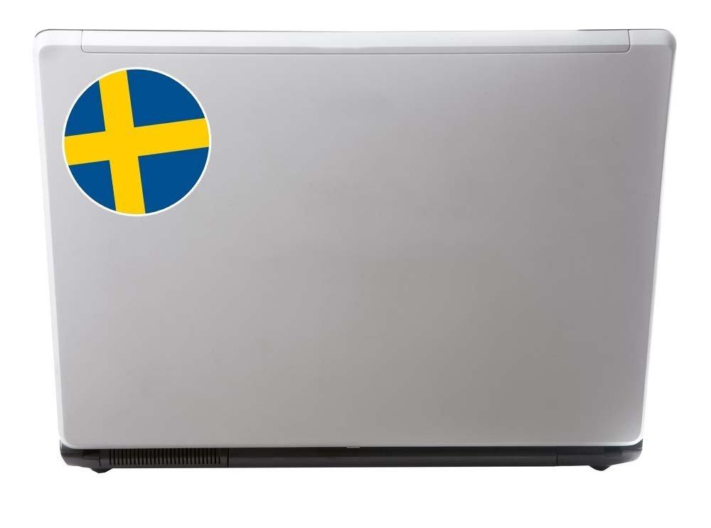 2 x 10cm//100mm Sweden Flag Vinyl Sticker Decal Laptop Travel Luggage Car Bike Sign Fun #9100