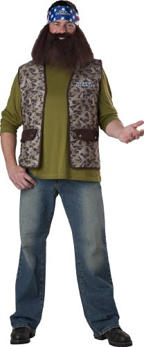 Camo Vest Costume (InCharacter Costumes Duck Dynasty Willie Costume, Brown Camo, One Size)