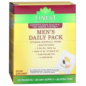 Finest Nutrition Multi Vitamin Men Pouch Combo Pk, 30 packets 30 day supply