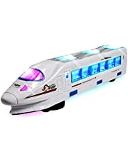 WolVol Bump & Go Electric Flash Light Train Toy with Music