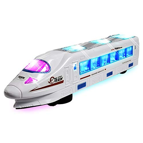 - WolVol Bump & Go Electric Flash Light Train Toy with Music