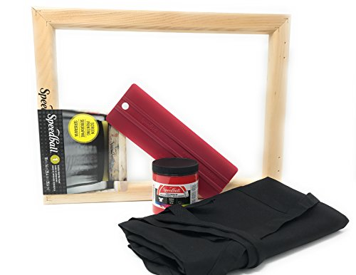 Screen Print 10x14 Screen Red Ink Squeegee Bundle by Multi