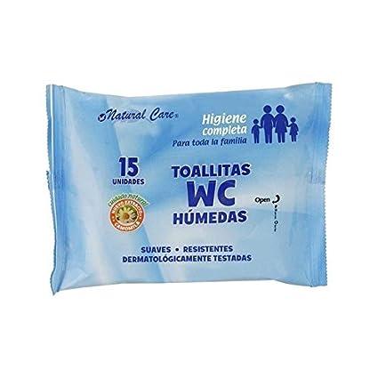 Natural care - Toallitas wc 15 uds