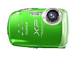 Fujifilm Finepix Xp10 12 Mp Waterproof Digital Camera With 5x Optical Zoom & 2.7-inch Lcd (Green)