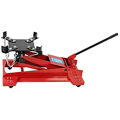 1100 lbs 0.5 Ton Low Profile Transmission Hydraulic Jack Auto Shop Repair Low Lift,Heavy Duty Solid Steel, Red Black BeUniqueToday