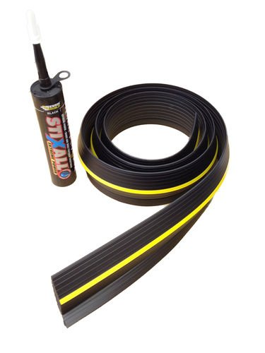 Weather Defender Heavy Duty 2.9m Garage Door Floor Seal Strip with Adhesive by Weather Defender