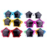 BESTOYARD 6pcs Mini Cool Five-Pointed Stars Shape Children's Sunglasses Costume Cosplay Halloween Glasses Party Accessories