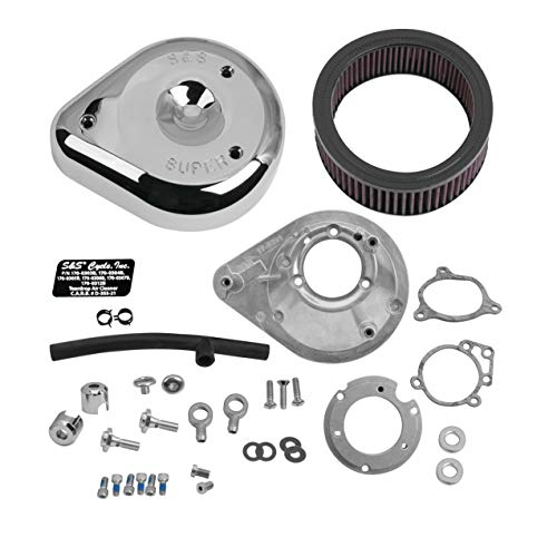 - S&S Cycle Teardrop Air Cleaner Kit Stock EFI Compatible for Harley-Davidson Electra Glide Classic - FLHTC 2013 - Chrome