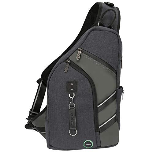 Sling Backpacks, JOCHUI Crossbody Bags for Men Women Sling Bags Purse Backpack for Travel Gym Cycling Hiking Black (Sling Ipad Tablet Backpack)