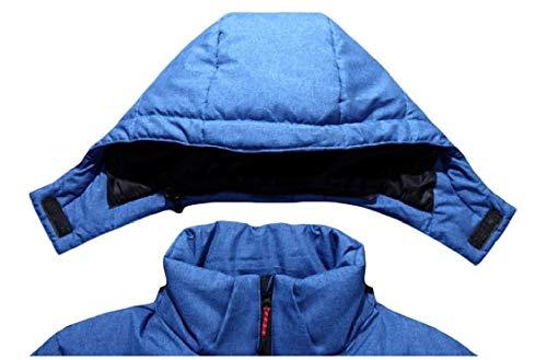 Piumino Energia Giù Stile Breve Rimovibile Mens Blu Spessa Outwear Cappuccio FrE4qFyw