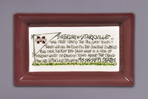 (Saturday Tailgate Platter (Ceramic) (Mississippi State Bulldogs) )
