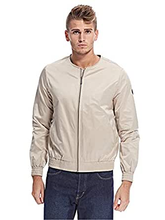 Native Youth Zip Up Jacket For Men, Cream, M