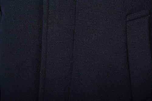 LAINE POUR HOMME BLEU MARINE/BLEU CLASSIQUE MANTEAU MANTEAU 36 38 40 42 44 46 S M L XL XXL RRP £ 229