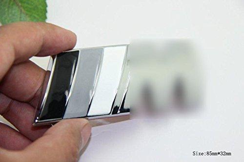 D679 Autocollant de Voiture 3D emblè me Insigne Top Badge Autocollant de Voiture Noir Blanc Mobile carsemblème®