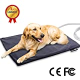 Pet Heating Pad pecut Low Voltage Safe Electric Heating Pet Mat for Dogs and Cats Warming Mat with Chew Resistant Cord and Waterproof Layer(L: 19.7'' x 25.6'')