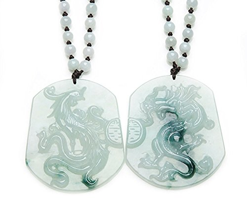 Natural Jadeite Jade Couple Pendant Necklace (Grade A Jade) Price For Pair by MPH-jewelry