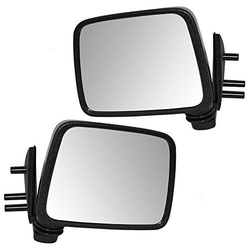 Driver and Passenger Manual Side View Mirrors Door Mounted Replacement for Nissan Pickup Truck SUV 9630211G7A K630111G26 (Mirror Manual Drivers Door Mounted)