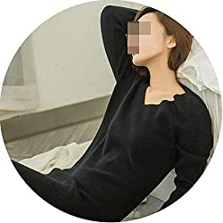 Womens Winter Cashmere Sweaters And Auntmun Women Knitted Pullovers Warm Vneck Black Xxl