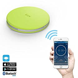 SmartShaker by iLuv, Award Winning App-Enabled Wireless Smart Wake Up Alarm Shaker (ideal for Heavy Sleepers & People with Hearing Loss) with vibration, ring tone, and combination option - compatible with iPhone, Smartphones, and Tablets (Green)