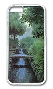 MOKSHOP Adorable Bridges water Hard Case Protective Shell Cell Phone Cover For Apple Iphone 6 (4.7 Inch) - PC Transparent