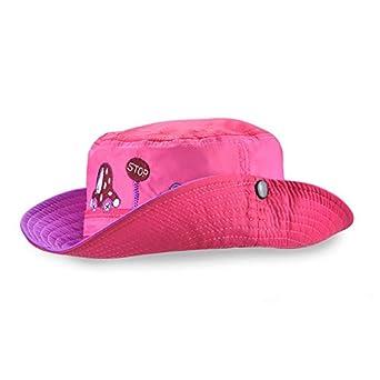 EINSKEY Toddler Sun Hat with Chin Straps Wide Brim Bucket Hat Summer UV Protection Hat for 12-24 Month Boys /& Girls Kids Pink//Blue
