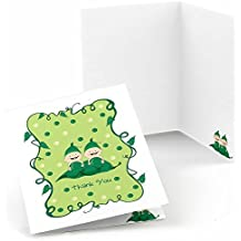 Twins Two Peas in a Pod - Baby Shower or Birthday Party Thank You Cards (8 count)