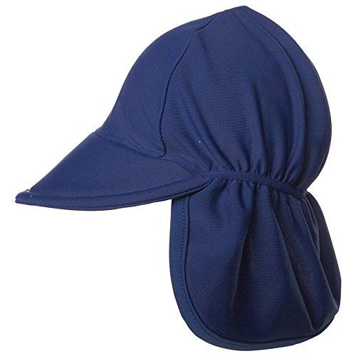 UPF 50+ Swim Flap Hat | Navy Medium
