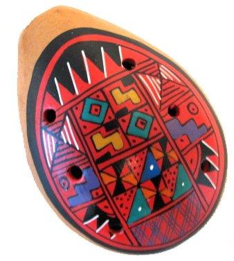 12 One Dozen 2.25 Ocarina Whistles Wholesale Pack Peru Hand Made Sanyork Fair Trade