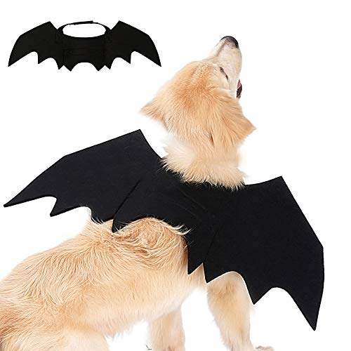 BRKURLEG Halloween Pet Costume Bat Wings Cosplay Dog Cat Costume Apparel Clothes for Party