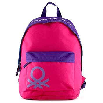 Target Benetton Backpack Mochila Escolar, 40 cm, Rosa (Pink): Amazon.es: Equipaje