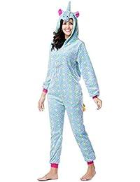 6015fdc43c Animal Unicorn Onesie Pajamas,Adult Men Women Unisex Fannel Cosplay Costume