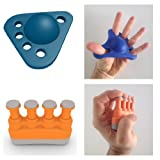Cheap PREMIUM 2 IN 1 KIT – Hand Finger Exerciser For Hands & Fingers Fitness – Your Complete Gripper Stretcher & Strengthener Bundle – For Kids Seniors Athletes & Musicians