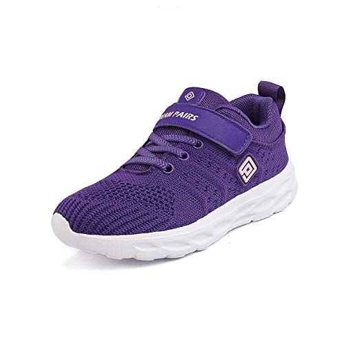 DREAM PAIRS Girls KD18001K Lightweight Breathable Running Athletic Sneakers Shoes Purple Pink, Size 9 M US Toddler (Girls Purple Tennis Shoes)